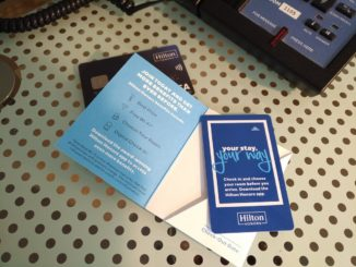 Hilton Honors Zimmerkarte