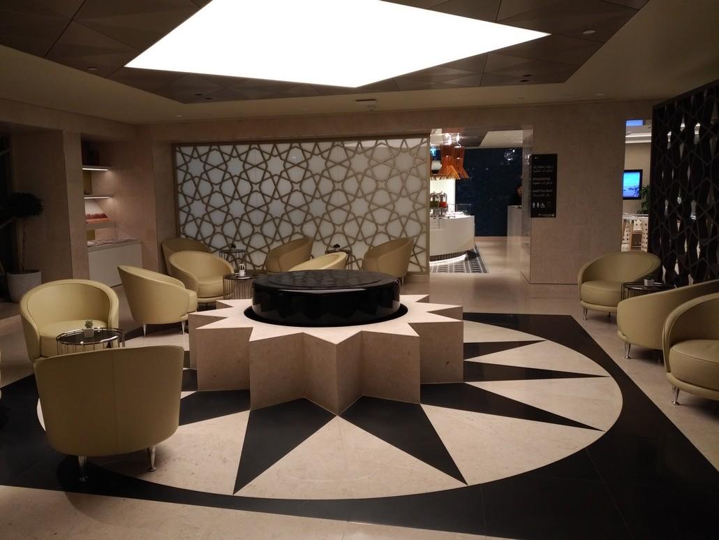 Qatar Airways Lounge am Bangkok Suvarnabhumi Airport