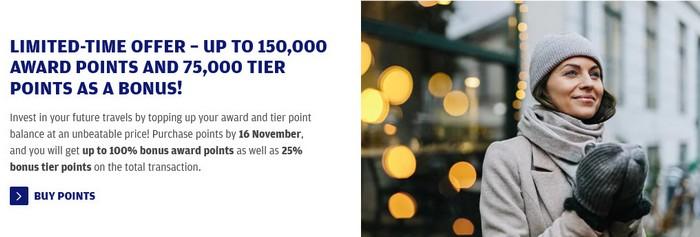 Kauf von Punkten und Status bei Finnair bis 16.11.2020