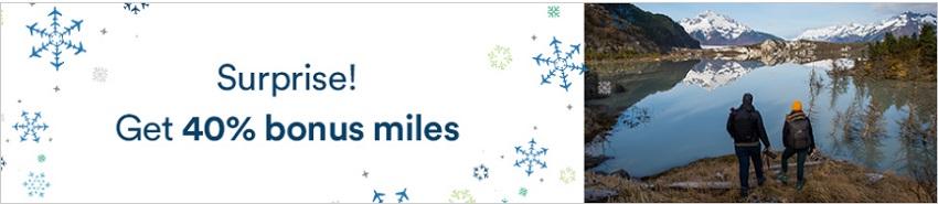 40% Bonus beim Kauf von Alaska Airlines Meilen bis 23.12.2020