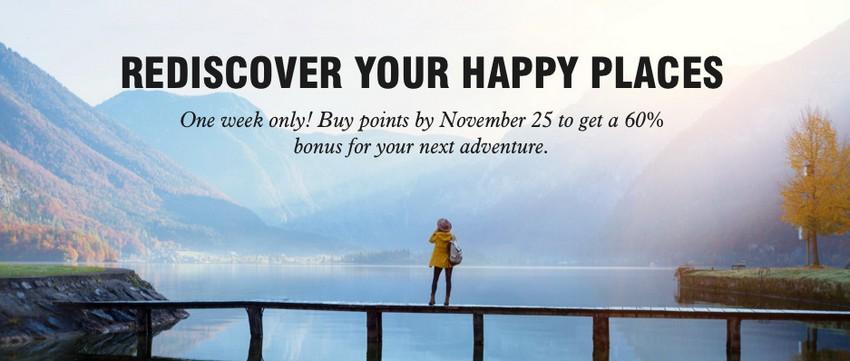 Kauf von Marriott Bonvoy Punkten bis 25.11.2020 mit 60% Bonus