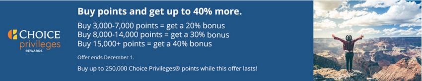 Bonus von 40% beim Kauf Choice Punkten bis 01.12.2020