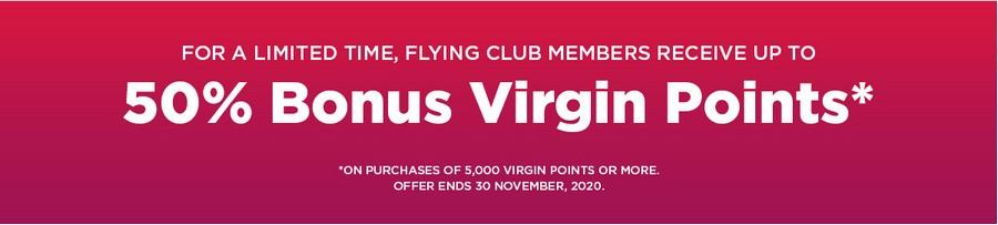 Virgin Points Flash Sale bis 30.11.2020