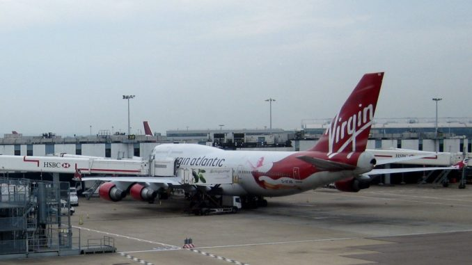 Virgin Atlantic Boeing 747-400 in London Heathrow