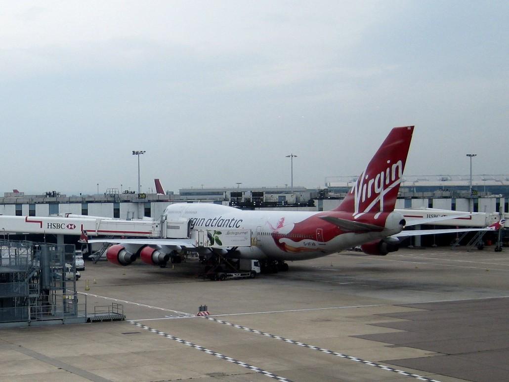 Virgin Atlantic Boeing 747-400 in London Heathrow