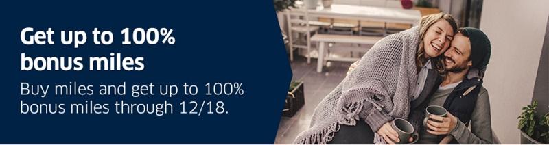 100% Bonus beim Kauf von Mileage Plus Meilen bis 18.12.2020