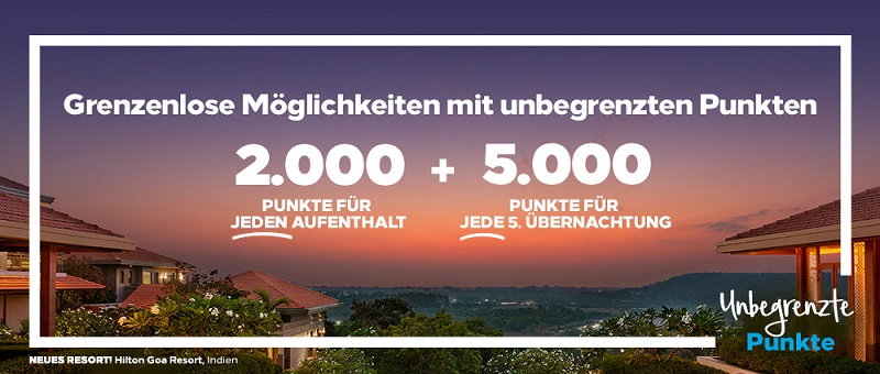 Hilton Points unlimited Promotion 2021