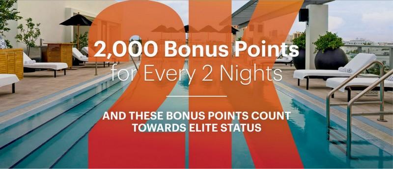 2.000 Rewards Club Punkte für jede zweite Nacht bis 31.03.2021