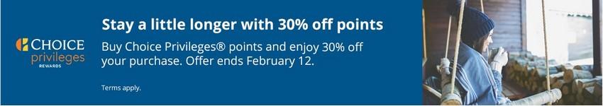 Ermäßigung von 30% beim Kauf von Choice Punkten bis 12.02.2021