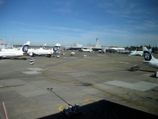 Alaska Airlines Flugzeuge in Seattle Tacoma