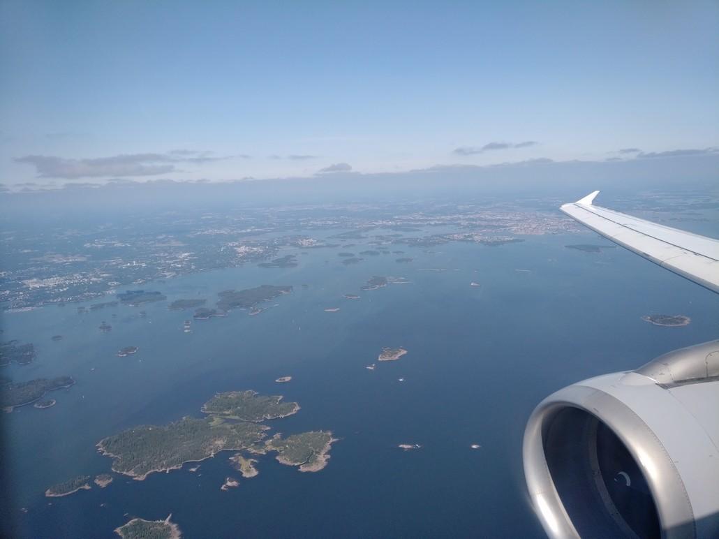 Anflug auf Helsinki Vantaa