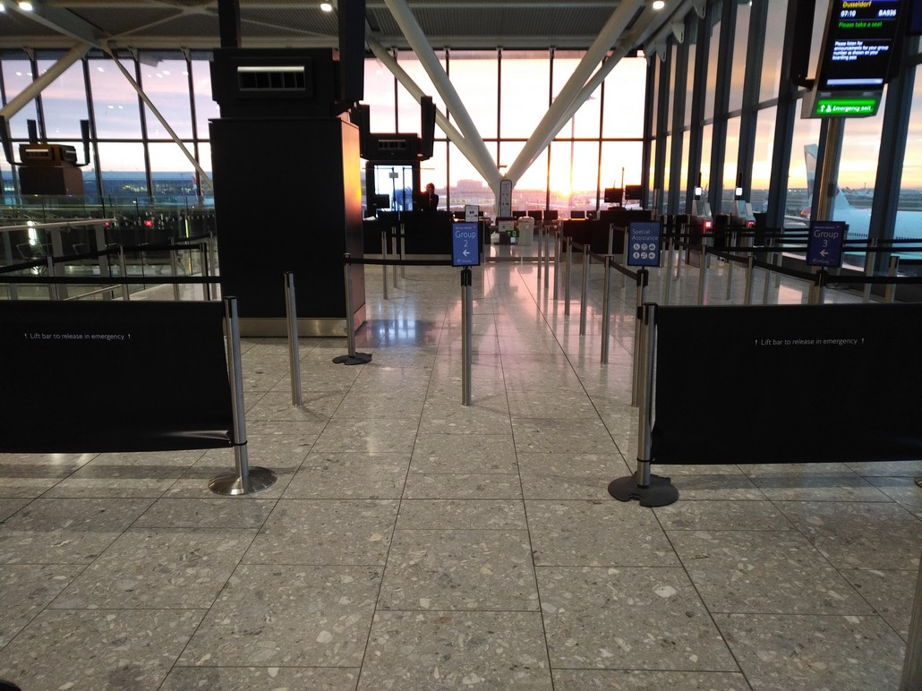 Gate am Flughafen London Heathrow Terminal 5B