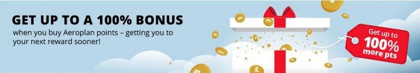 Bis 02.04.2021 könnt Ihr Air Canada Punkte mit einen 100% Bonus kaufen