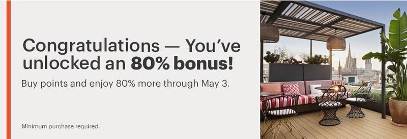 80% Bonus beim Kauf von IHG Rewards Punkten bis 03.05.2021