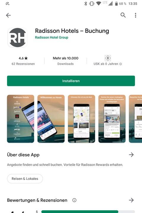 Eine der Änderungen im Radisson Rewards Programm ab Juni 2021 sind unterschiedliche Apps
