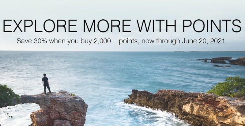 Kauf von Marriott Punkten bis 20.06.2021 mit 30% Ermäßigung
