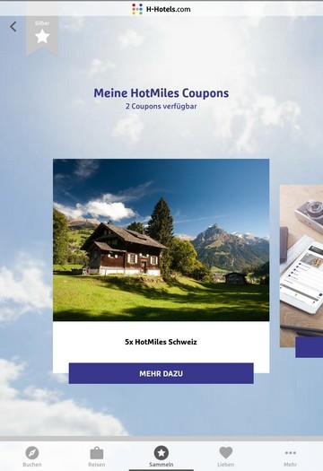 Bis 30.06.2021 einmalig fünffache HotMiles in der Schweiz