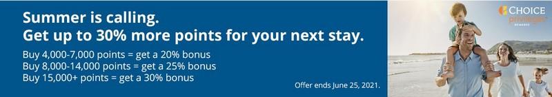 Bonus von bis zu 30% beim Kauf Choice Punkten bis 25.06.2021
