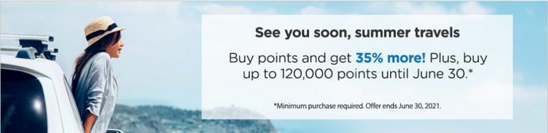Bonus von 35% beim Kauf Wyndham Rewards Punkten bis 30.06.2021