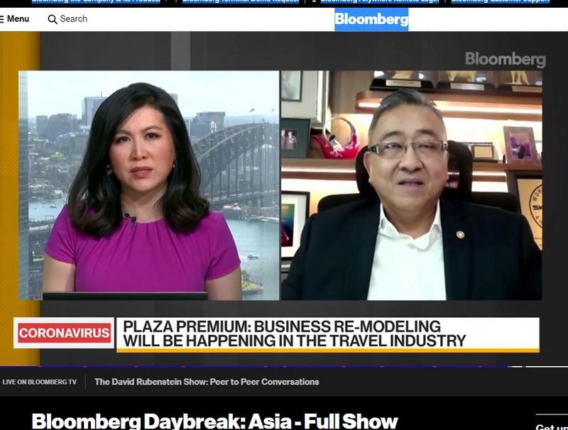 CEO der Plaza Premium Group bei Bloomberg Daybreak Asia am 11.09.2020