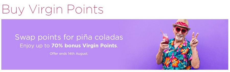 Bis zu 70% Bonus beim Virgin Atlantic Punktekauf bis 14.08.2021