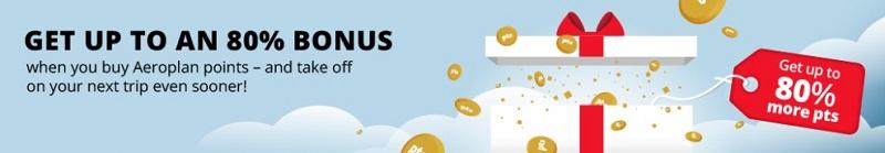 Ihr könnt bis 30.07.2021 Air Canada Punkte mit Bonus von 80% kaufen