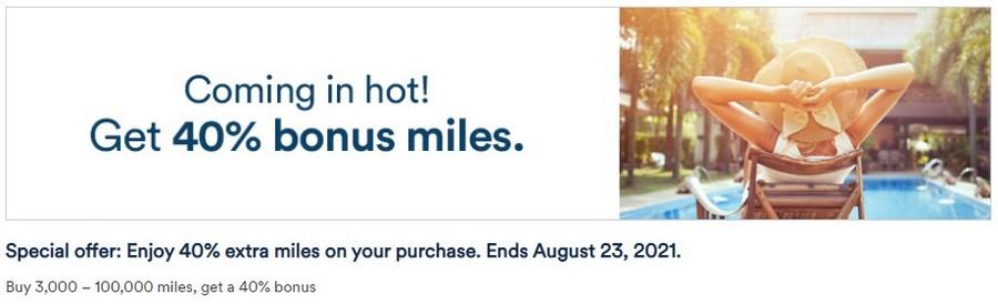 40% Bonus beim Kauf von Alaska Airlines Meilen bis 23.08.2021