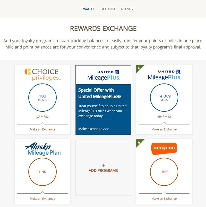 Abschluss des Transfer von Choice zu United Airlines