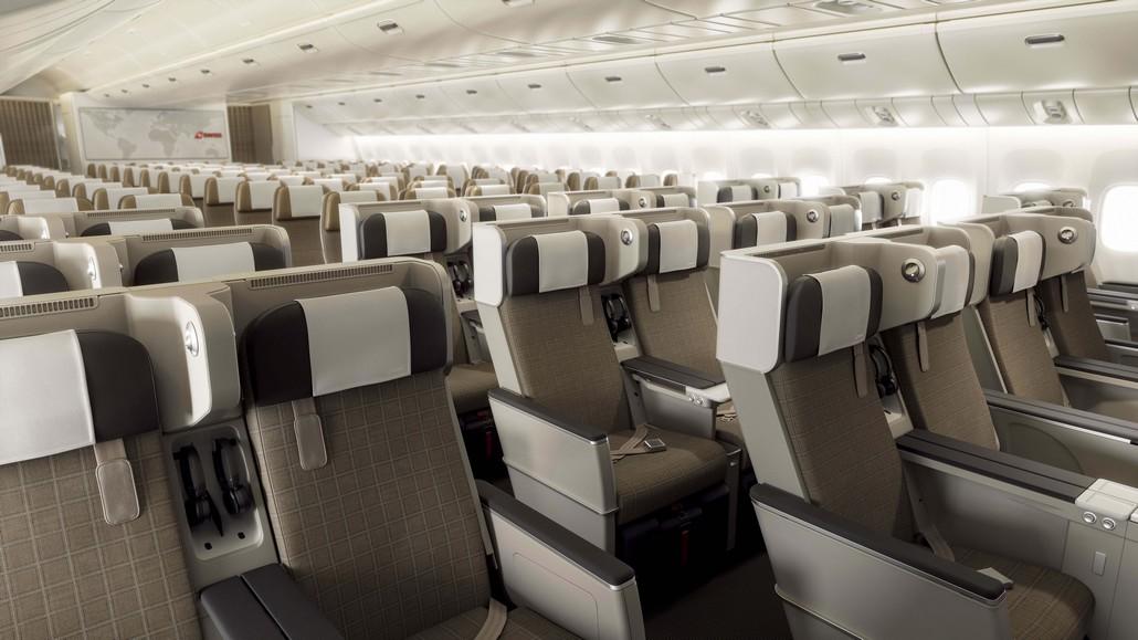 Swiss Premium Economy Kabine in der 777 für Flüge ab Winter 2021