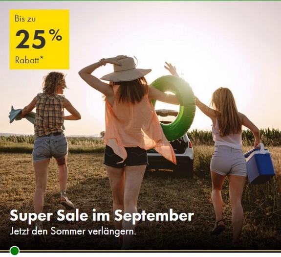 Ihr könnt in Deutschland 15% und weltzweit 25% bei Europcar Anmietungen bis 12.12.2021 und Buchung bis 30.09.2021 sparen