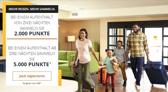 Ihr erhaltet bei der bis Ende Oktober 2021 laufenden Herbst Promotion der Choice Hotels 5.000 Bonuspunkte für Aufenthalte von 3 Nächten