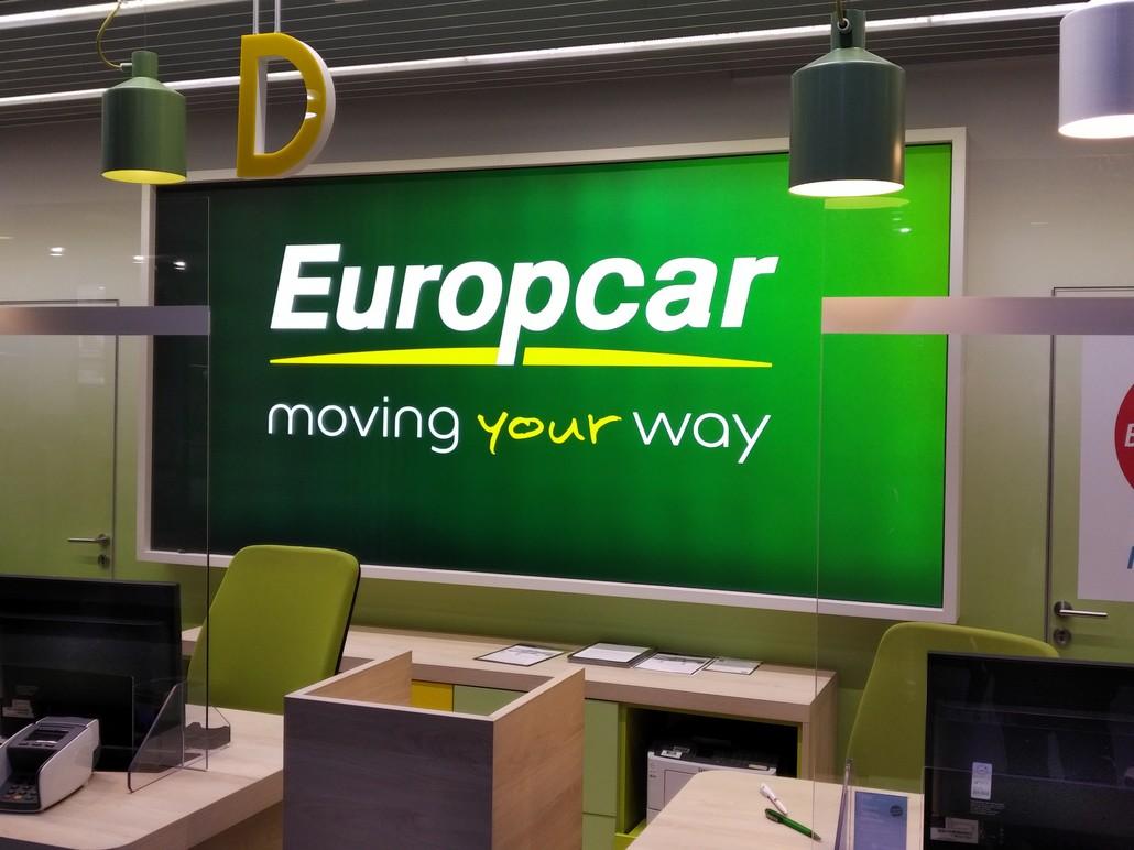 Europcar Counter am Flughafen Düsseldorf
