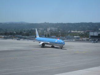 KLM Boeing 777-300 in San Francisco International Airport