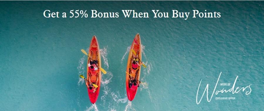 Kauf von Marriott Bonvoy Punkte mit 55% Bonus bis 14.10.2021