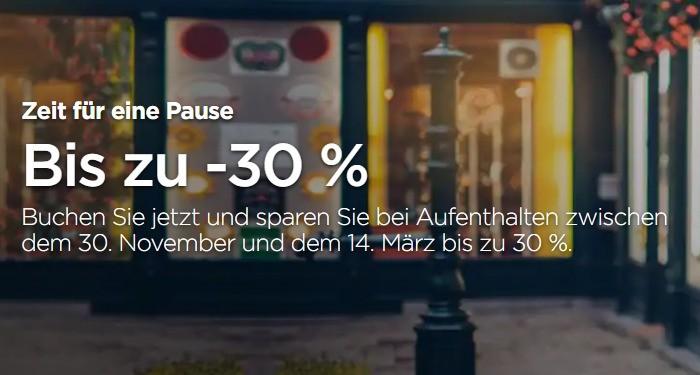 Oktober Sale 2021 Angebot von Radisson mit 30% Ersparnis für Buchung bis 21.10.2021