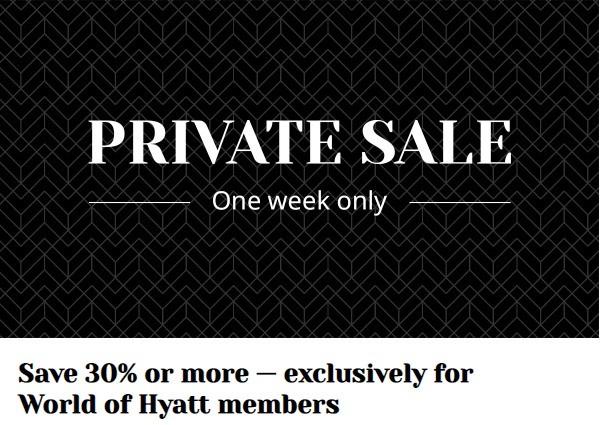 Hyatt Flash Sale für Buchungen bis 18.10.2021